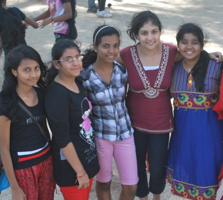 Girls enjoyed the chance to spend some time with Roopa