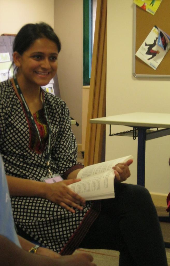 Aria, our amazing volunteer teacher!