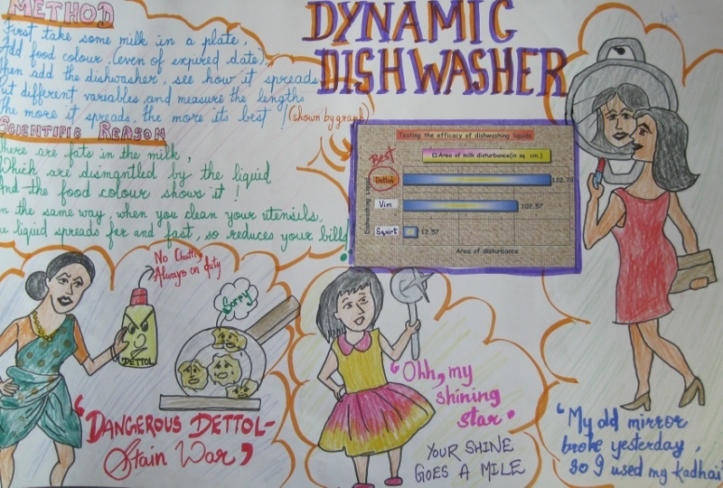 A poster by Sejal--possibly with a glittering marketing career in front of her?