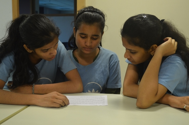 Aarti, Anjali and Komal think about a case study.
