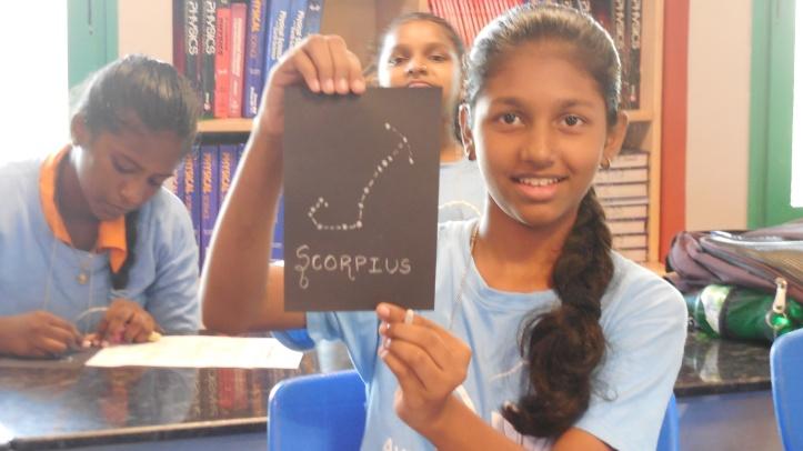 Riya drew a Scorpius