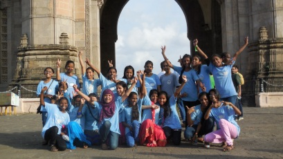 Celebration at the gateway of India